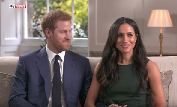 Meghan put on a confident display in her engagement interview with Harry Image SKY