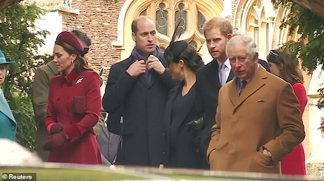 The Queen pictured leaving church on Christmas morning reportedly told Meghan and Kate to put any tensions behind them in time for family celebrations