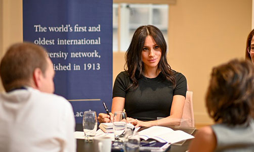 1 Meghan takes notes at Kings College London Photo The ACU