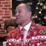 Mike Tindall wore a coloured Christmas suit at Sandringham Image JOE
