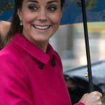 Not even the bad weather could bring the Duchess down during her official tour to New York in 2014 Photo C GETTY