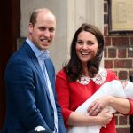 On 23 April 2018 Prince Louis Arthur Charles Cambridge was welcomed and proud mum Kate Middleton looked delighted as she posed on the steps of the Lindo Wing Photo C GETTY