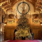 One of them is Windsor Castle which has been pictured welcoming a massive 20ft Nordmann fir Image PA
