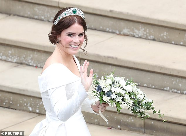 Other followers noted how Prince Andrew looked strikingly like his daughter Princess Eugenie pictured on her wedding day in October