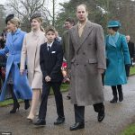 Other royals in attendance were Prince Edward and Sophie Wessex joined by their children Lady Louise and James Viscount Severn and Princess Anne and her husband Timothy Laurence
