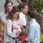 Pippa Middleton with her husband left her son and Spencer Matthews Image MEGA