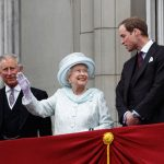 Prince Charles the Queen and Prince William Image GETTY