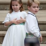 Prince George and Princess Charlotte didnt get to attend yesterdays childrens party despite the festivities taking place a short walk away from their family home at Apartment 1A