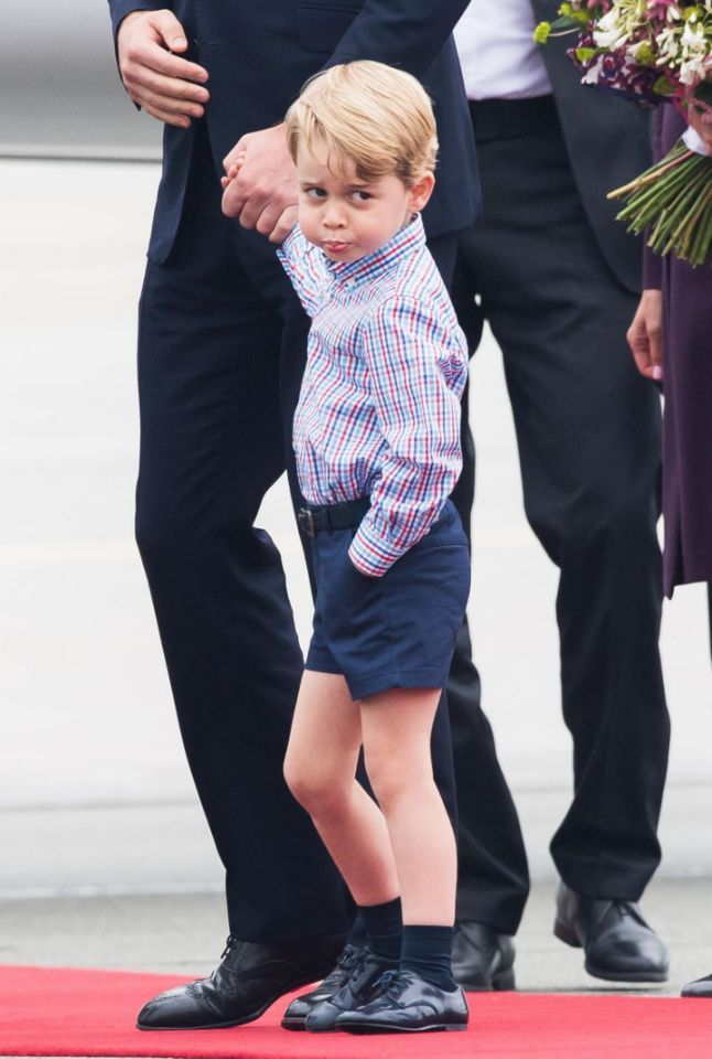 Prince George is said to have picked up a cheeky habit of opening his Christmas presents too early Source Getty