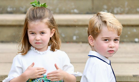 Princess Charlotte is able to get into the festive spirit earlier than brother George Image GETTY