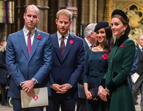 Prince Harry Prince William Kate Middleton and Meghan Markle Image GETTY