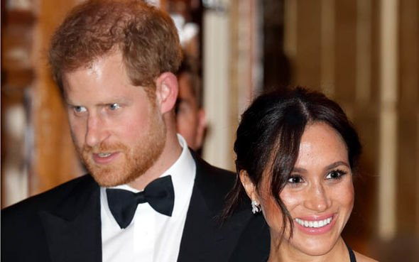 Prince Harry and Meghan announced their pregnancy in October Image GETTY