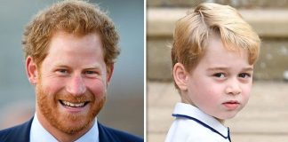 Prince Harry and Prince George Image Getty