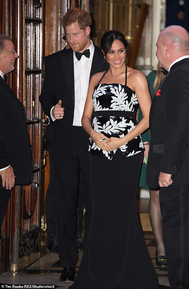 Prince Harry and the Duchess of Sussex at The Royal Variety Performance held at the London Palladium