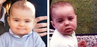 Prince Louis left is now almost eight months old and bears a strong resemblance to his mother Kate as a baby right in 1982 1