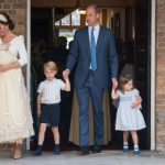 Prince Louis made his second public appearance on 9 July at his christening which marked the first time that the Cambridge family were pictured all together Photo C GETTY