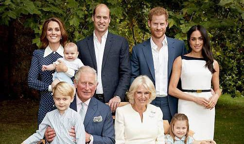 Prince Louis took centre stage in the Cambridges Christmas card photo Image TWITTER @KensingtonPalace