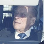 Prince Philip 97 was smart in a patterned blue tie as he made the journey to Buckingham Palace
