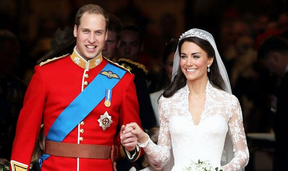 Prince William and Kate Middleton on their wedding day Image GETTY