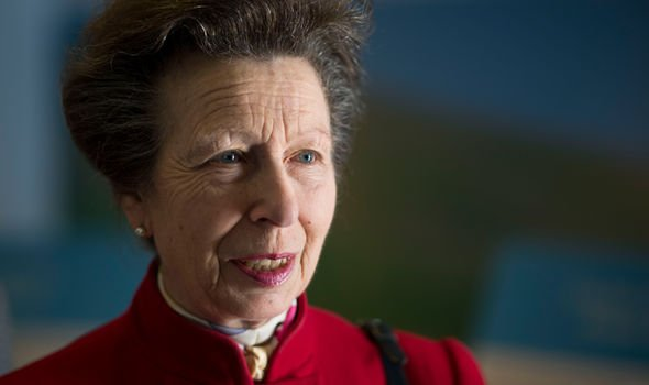 Princess Anne furiously reprehended one of her Royal servants for fumbling a task Image GETTY