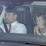 Princess Annes son Peter Phillips drove his daughters Savannah and Isla to the family reunion on Wednesday