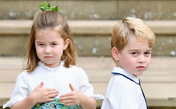 Princess Charlotte and Prince George have broken up for the school holidays Image GETTY