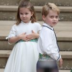 Princess Charlotte pictured with Prince George at Princess Eugenies wedding who attends morning classes at the Willcocks Nursery in Kensington