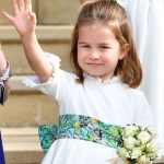 Princess Charlotte waves to crowds at Princess Eugenies wedding Image GETTY