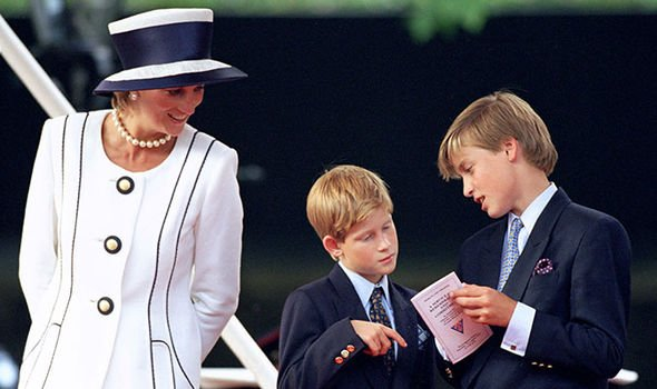 Princess Diana Prince William and Prince Harry Image Getty