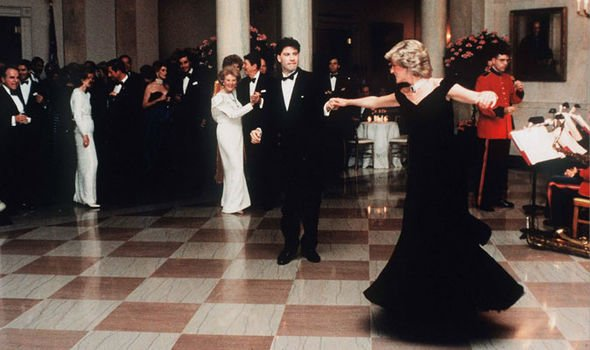 Princess Diana also famously danced with John Travolta in 1985 Image Getty