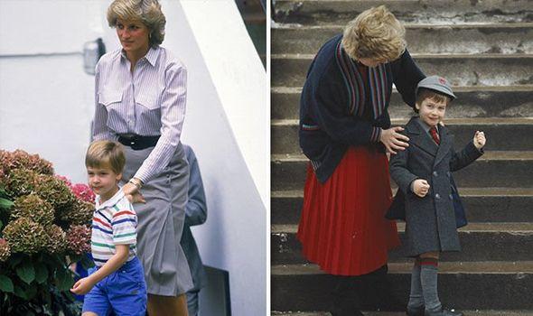 Princess Diana and Prince William Image Getty