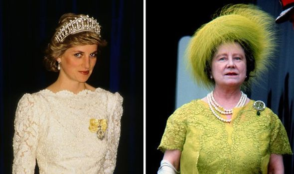 Princess Diana and the QUeen Mother had a famously fraught relationship Image Getty