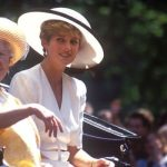 Princess Diana and the Queen Mother at the Trooping of the Colour in 1992 Image Getty