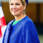 Queen Maxima joined her husband in welcoming Cape Verdes President Fonseca and his wife Ligia Fonseca on Dam Square in Amsterdam on Monday