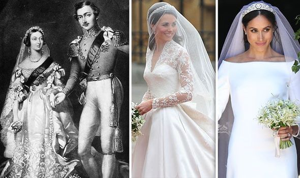 Royal fashion: How Queen Victoria altered royal wedding dress protocol for Kate and Meghan