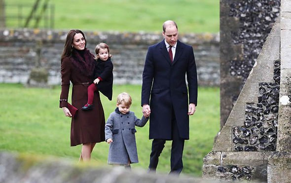 Royal BABIES George and Charlotte last attended a Christmas Day church service in 2016 in Berkshire Image Getty