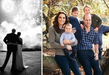 Royal CHRISTMAS The Duke and Duchess of Cambridge and Duke and Duchess of Sussexs cards Image PA