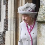 Royal Christmas PICTURES The Queen was also pictured at the church service Image GETTY