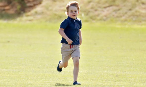 Royal SHOCK Prince George is usually pictured wearing shorts Image GETTY