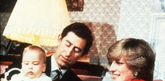 Royal family Christmas Diana and Charles with baby William in 1982 Image Getty