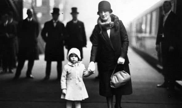 Royal family Christmas The Queen and her mum in 1929 Image Getty