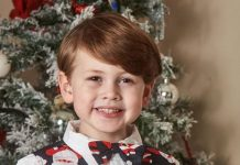 Royal look alike Hayden Ursell five is all set for Christmas Image Simon Jacobs Mercury Press