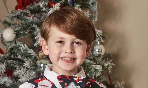 Royal look alike Hayden Ursell five is all set for Christmas Image Simon Jacobs Mercury Press