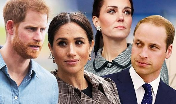 Royal news Meghan and Harry and William and Kate are said to have distanced themselves Image GETTY