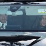 Royal news Pricne Harry and Meghan Markle were also spotted arriving for the Queens festive lunch Image GETTY
