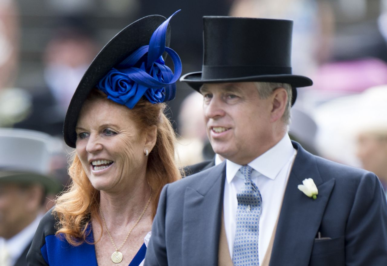 "Sarah Ferguson – pictured here with her ex husband in 2015 – has admitted she is now living a ""fairytale"" with Prince Andrew 22 years after their divorce Source Getty"