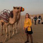Sarah Ferguson Sarah posed with a camel in the desert on her Instagram Image SARAHFERGUSON15 INSTAGRAM