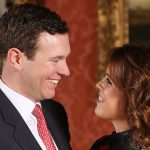 Sarah Fergusons Christmas card features Princess Eugenie and new son in law Jack Brooksbank Photo C GETTY