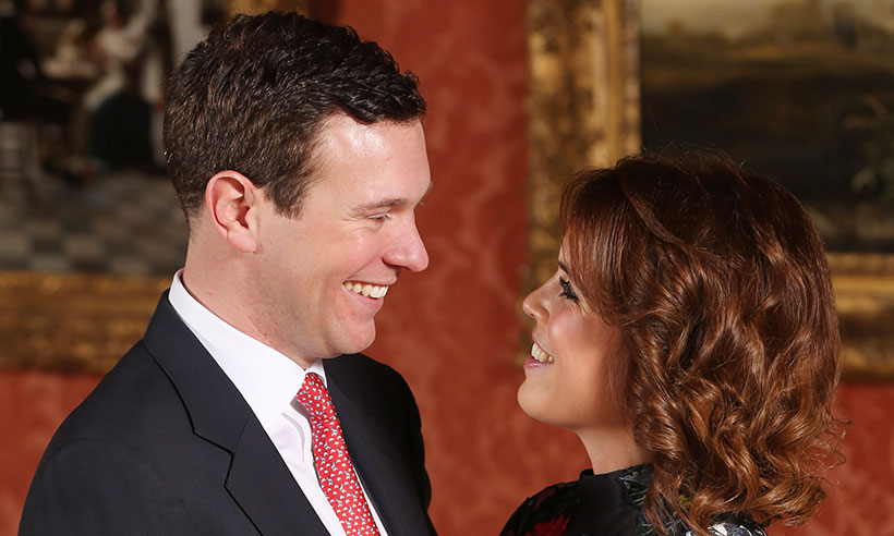 01 Sarah Fergusons Christmas card features Princess Eugenie and new son in law Jack Brooksbank Photo C GETTY IMAGES