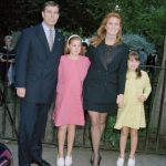 Sarah and daughters Princess Beatrice and Princess Eugenie moved in with Andrew at Royal Lodge in Windsor in 2008 The family is pictured here in 1999 Source Getty